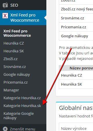woo-xml-menu-kategorie-heureka-sk
